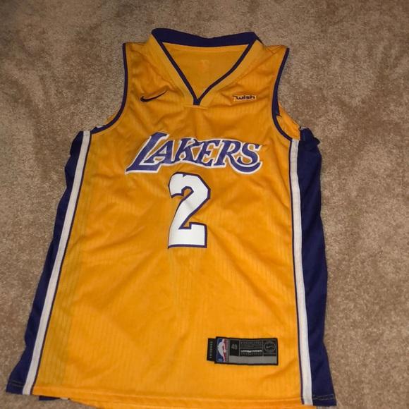 cheap for discount 1add3 93736 Men's LA Lakers Lonzo Ball NBA Jersey